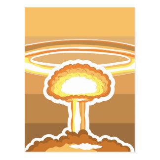 Nuclear Explosion vector Postcard