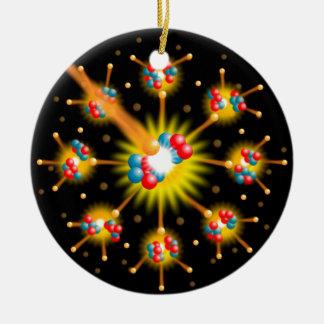 Nuclear Fission Ceramic Ornament