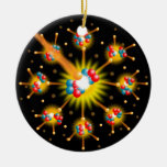 Nuclear Fission Double-Sided Ceramic Round Christmas Ornament