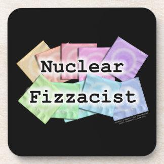 Nuclear Fizzacist Bartender Cork Coaster