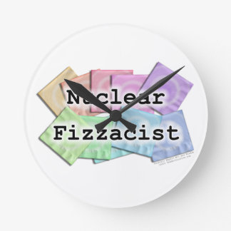 NUCLEAR FIZZACIST BARTENDERS WALL CLOCK