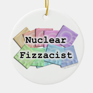 NUCLEAR FIZZACIST Ornament for bartenders