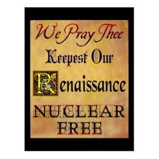 Nuclear Free Renaissance Saying Postcard