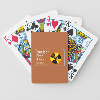 Nuclear Free Zone, Sign, California, US Bicycle Playing Cards