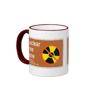 Nuclear Free Zone, Sign, California, US Ringer Mug