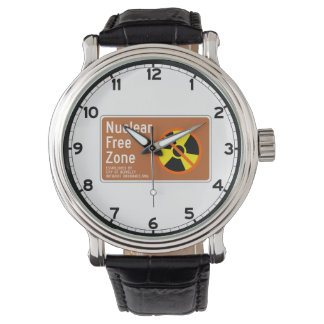 Nuclear Free Zone, Sign, California, US Wristwatches