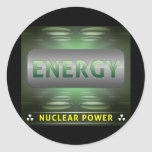 Nuclear Is Clean Energy Classic Round Sticker