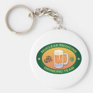 Nuclear Medicine Drinking Team Basic Round Button Keychain