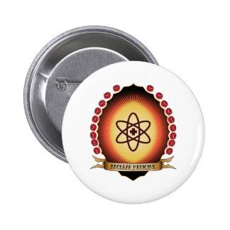 Nuclear Medicine Mandorla 2 Inch Round Button