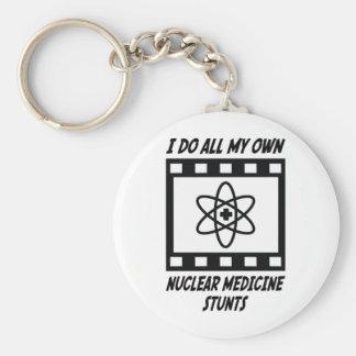 Nuclear Medicine Stunts Basic Round Button Keychain
