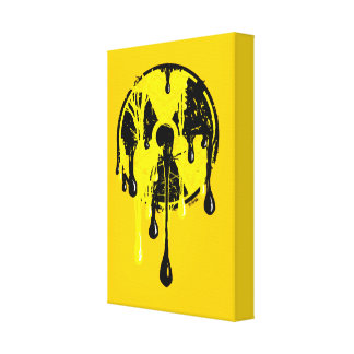 Nuclear meltdown stretched canvas prints