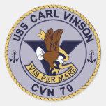 Nuclear multiusos de CVN-70 CARL VINSON Pegatinas Redondas