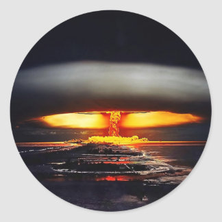 nuclear night shot.jpg classic round sticker