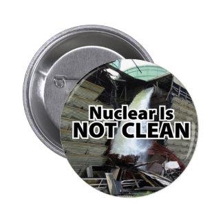 Nuclear no es limpio - el yanqui de Vermont Pins