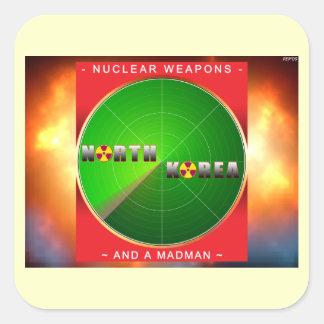 Nuclear North Korea Square Sticker