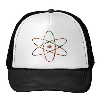 Nuclear Nucleas -  Red Sparkle Design Mesh Hat