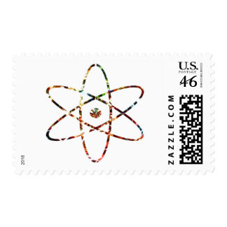 Nuclear Nucleas - Red Sparkle Design Postage Stamp