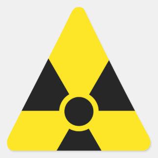 Nuclear Pegatina Triangular