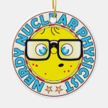 Nuclear Physicist Nerdy Double-Sided Ceramic Round Christmas Ornament