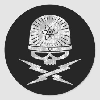 Nuclear Pirate Classic Round Sticker
