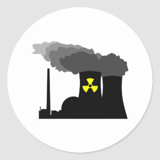 Nuclear Power Classic Round Sticker