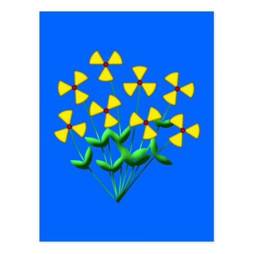 Nuclear power nuclear power flowers plants flowers postcard