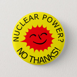 Nuclear Power Pinback Button
