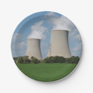 Nuclear Power Plant Cooling Towers Paper Plate