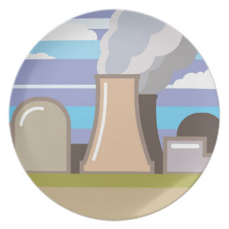 Nuclear Power Plant Dinner Plate