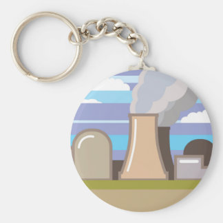 Nuclear Power Plant Keychain