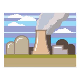 Nuclear Power Plant Postcard