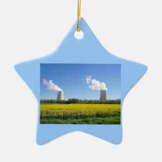 Nuclear power seedling - Nuclear power plant Ceramic Ornament