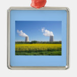Nuclear power seedling - Nuclear power plant Square Metal Christmas Ornament