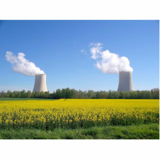 Nuclear power seedling - Nuclear power plant Statuette