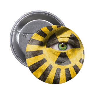 Nuclear Radiation Pinback Button