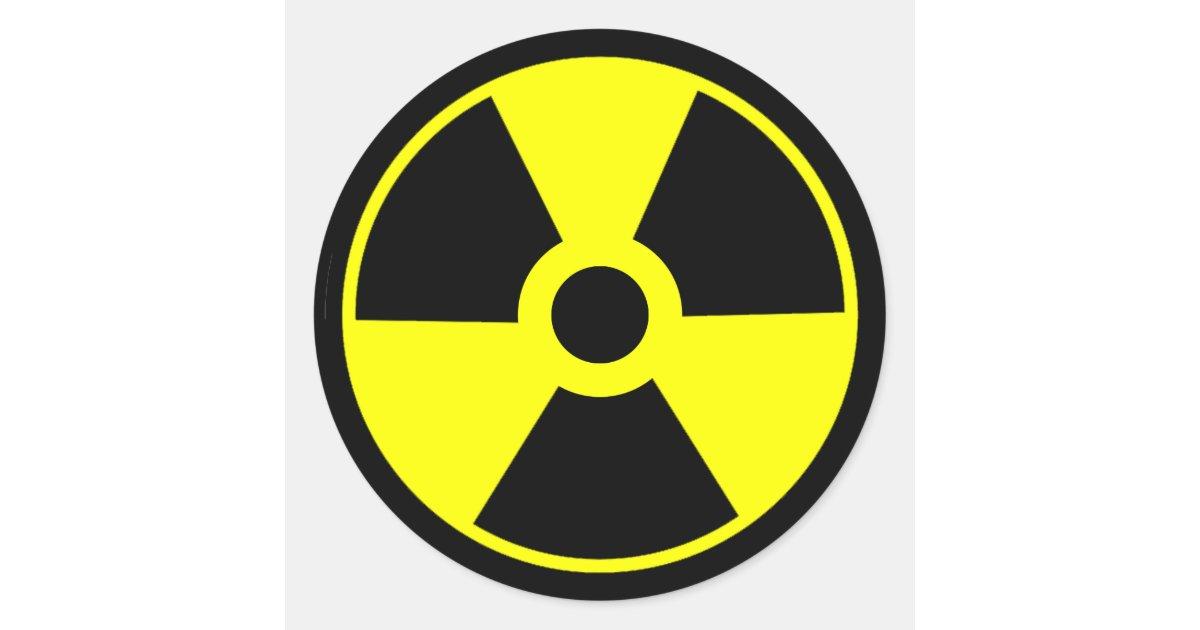 Nuclear Radiation Symbol Radioactive Symbol Classic Round