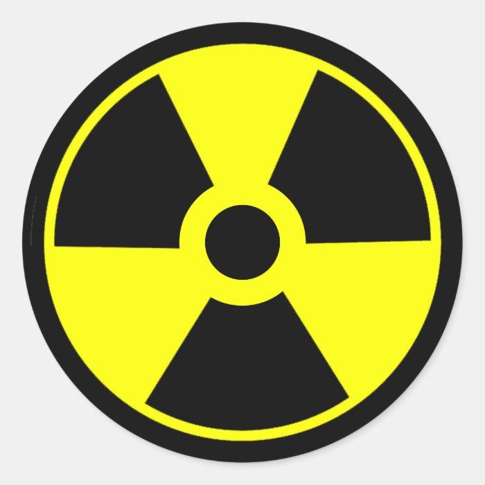 Nuclear Radiation Symbol Radioactive Symbol Classic Round ...