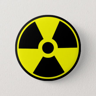 Nuclear Radiation Symbol Radioactive Symbol Pinback Button