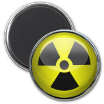 Nuclear Radiation Symbol Radioactive Warning Sign 2 Inch Round Magnet