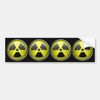 Nuclear Radiation Symbol Radioactive Warning Sign Car Bumper Sticker