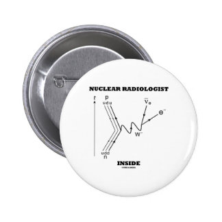 Nuclear Radiologist Inside (Beta-Negative Decay) 2 Inch Round Button