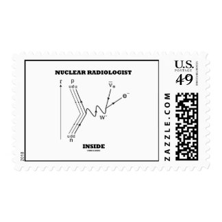 Nuclear Radiologist Inside (Beta-Negative Decay) Postage Stamps