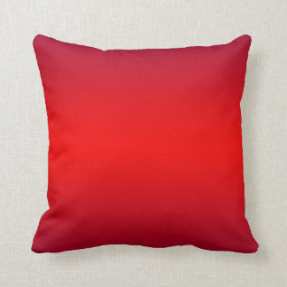 Nuclear Red Gradient - Poppy Reds Template Blank Throw Pillow