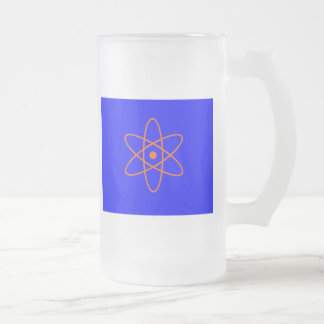 Nuclear Sign Frosted Glass Beer Mug