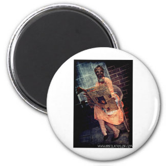 Nuclear Sunday by April A Taylor 2 Inch Round Magnet