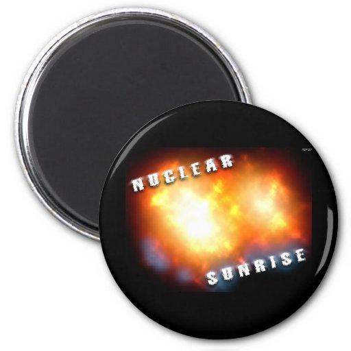 Nuclear Sunrise Refrigerator Magnet