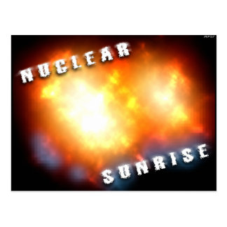 Nuclear Sunrise Postcard