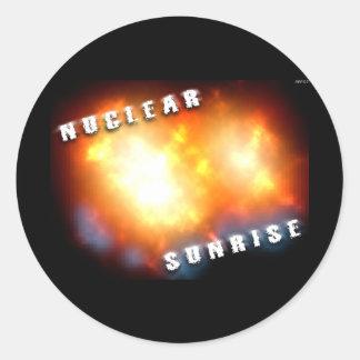 Nuclear Sunrise Classic Round Sticker