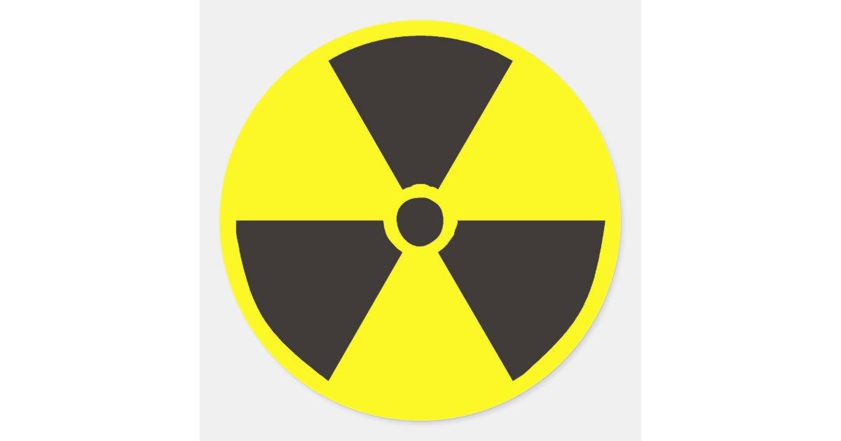 Nuclear Symbol Classic Round Sticker | Zazzle.com