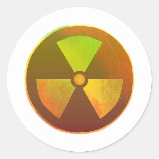 Nuclear Symbol Radioactive Glow Classic Round Sticker